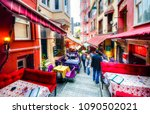 Small photo of Istanbul, Turkey - May 19, 2011 : Colorful Algeria Street view in Istanbul. Istanbul is populer tourist destination in Turkey.