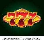 set of 777 gold casino jackpot... | Shutterstock .eps vector #1090507157