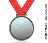 silver medal 3d rendering...   Shutterstock . vector #1090509839