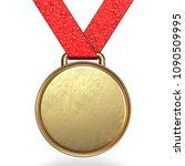 golden medal 3d rendering...   Shutterstock . vector #1090509995
