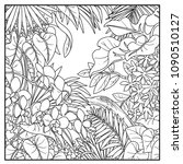 wild jungle black contour line... | Shutterstock .eps vector #1090510127