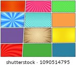 comic book backgrounds set with ...   Shutterstock .eps vector #1090514795