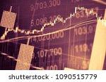 charts of financial instruments ...   Shutterstock . vector #1090515779
