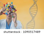 doctor woman holding a medical... | Shutterstock . vector #1090517489
