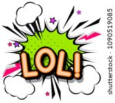 lol  retro popart style... | Shutterstock .eps vector #1090519085