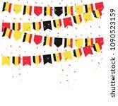 belgium celebration bunting... | Shutterstock .eps vector #1090523159