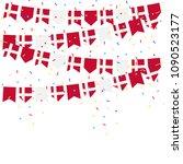 denmark celebration bunting... | Shutterstock .eps vector #1090523177