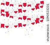 poland celebration bunting... | Shutterstock .eps vector #1090523231