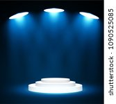stage podium with lighting ... | Shutterstock .eps vector #1090525085