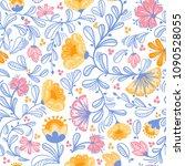 summer flower seamless pattern. ...   Shutterstock .eps vector #1090528055