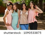 street fashion. close up four... | Shutterstock . vector #1090533875