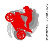motorcycle freestyle driver... | Shutterstock .eps vector #1090534649