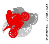 motorcycle freestyle driver... | Shutterstock .eps vector #1090534655