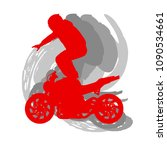 motorcycle freestyle driver... | Shutterstock .eps vector #1090534661