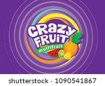 crazy fruit multifruit | Shutterstock .eps vector #1090541867