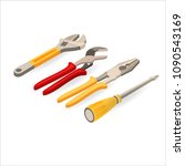 wrench  spanner  pliers ...   Shutterstock .eps vector #1090543169