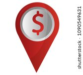 gps navigation pointer pin map... | Shutterstock .eps vector #1090549631
