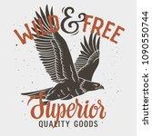 bald eagle t shirt design.... | Shutterstock .eps vector #1090550744