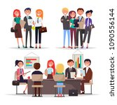 young businessmans on... | Shutterstock .eps vector #1090556144