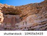 southwestern cliff dwelling | Shutterstock . vector #1090565435