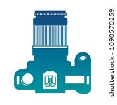photographic camera device... | Shutterstock .eps vector #1090570259