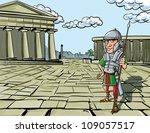 cartoon roman legionary... | Shutterstock .eps vector #109057517