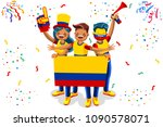 russia 2018 world cup  colombia ... | Shutterstock . vector #1090578071