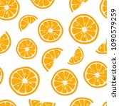 oranges seamless pattern with.... | Shutterstock .eps vector #1090579259