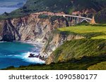 beautiful bixby bridge...   Shutterstock . vector #1090580177
