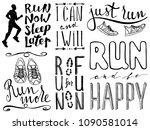 run motivation phrases set.... | Shutterstock .eps vector #1090581014