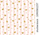 gold heart seamless pattern.... | Shutterstock .eps vector #1090581257