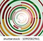 circular lines circles ... | Shutterstock .eps vector #1090582961