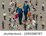 businessmen executive people in ... | Shutterstock . vector #1090588787