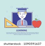 learning education concept | Shutterstock .eps vector #1090591637
