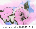 abstract ink marbled  detailed... | Shutterstock . vector #1090591811
