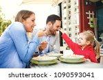 Happy Family Is Enjoying Pasta - Fine Art prints