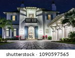 luxury home in florida | Shutterstock . vector #1090597565