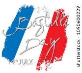 14 th of july. happy bastille... | Shutterstock .eps vector #1090600229