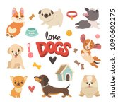 Puppies Collection. Vector...
