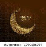 ramadan kareem greeting concept ... | Shutterstock .eps vector #1090606094