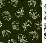 seamless pattern elephant...   Shutterstock .eps vector #1090610657