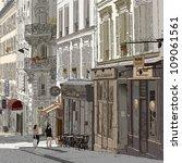 vector illustration of a street ...   Shutterstock .eps vector #109061561