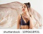 beauty portrait of asian exotic ...   Shutterstock . vector #1090618931