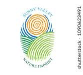sunny valley logotype in... | Shutterstock .eps vector #1090623491