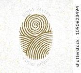 sunny valley logotype in... | Shutterstock .eps vector #1090623494