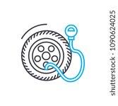 tire pressure vector thin line...   Shutterstock .eps vector #1090624025