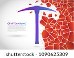 abstract mining concept with... | Shutterstock .eps vector #1090625309