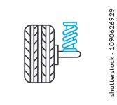 shock absorbers vector thin... | Shutterstock .eps vector #1090626929