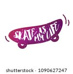 skateboard with lettering text  ... | Shutterstock .eps vector #1090627247