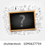 mathematical equations and... | Shutterstock .eps vector #1090627754